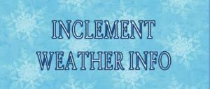 Inclement Weather Procedures 2017/18