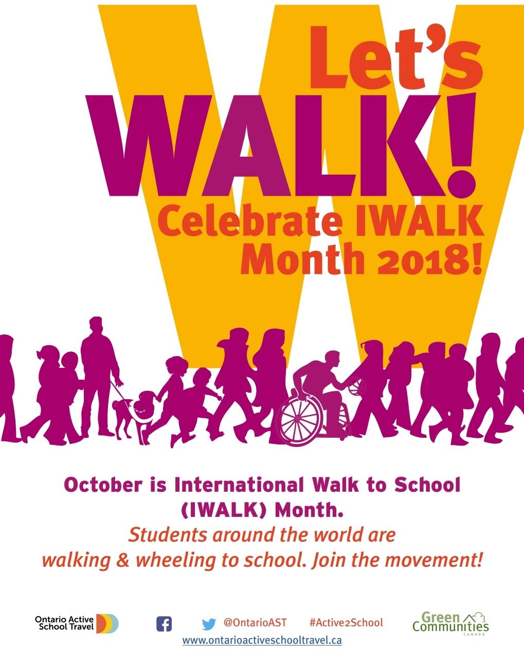 St. Jerome CES Walk to School Day Tomorrow