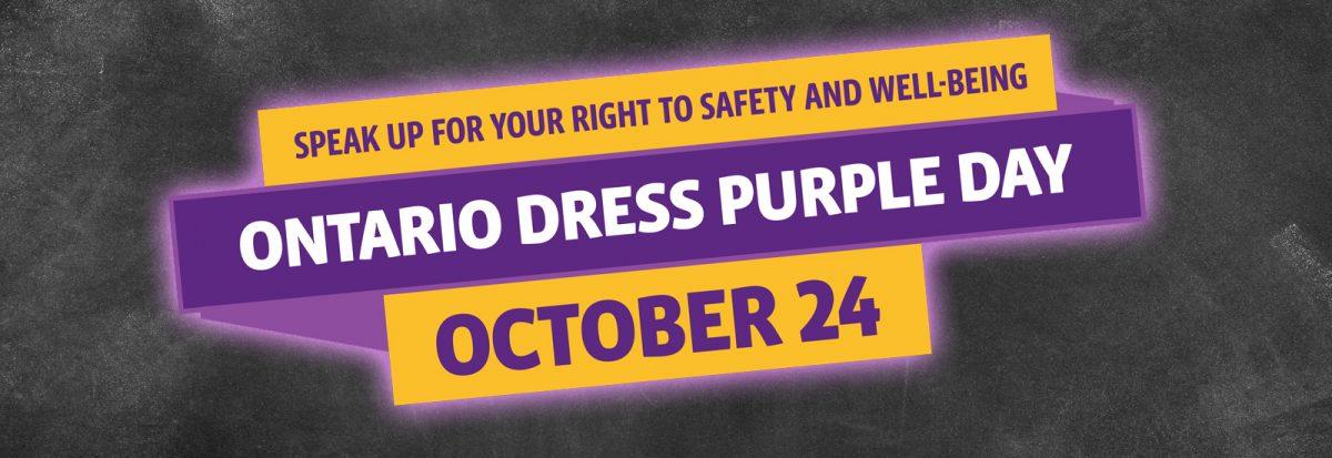 Ontario Dress Purple Day