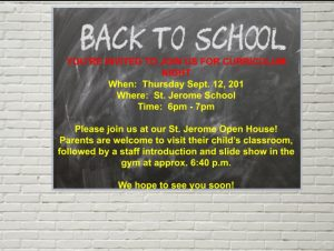 SJE Curriculum Night 2019
